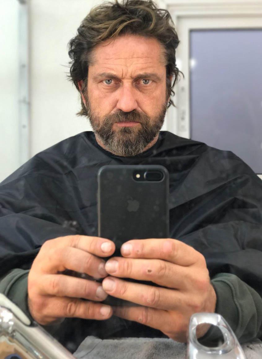 gerard butler Haircut 2018