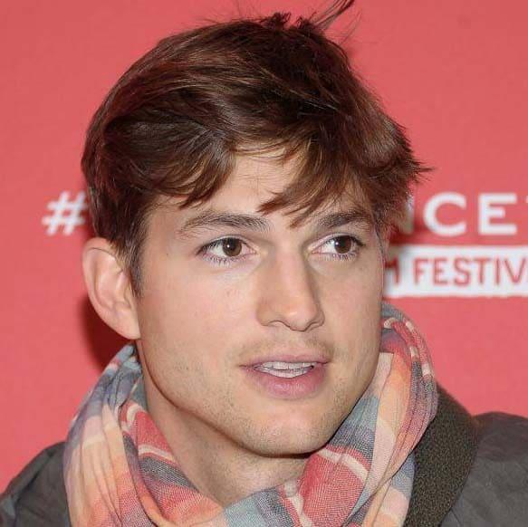 Ashton Kutcher haircut 2018