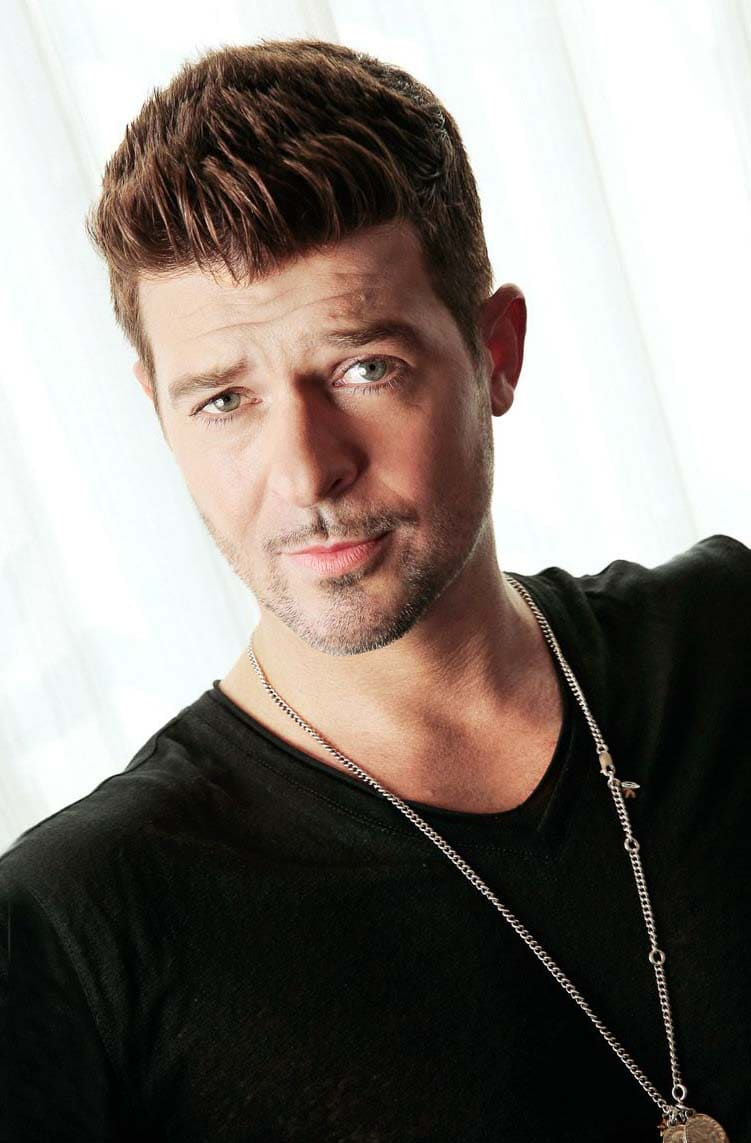 robin thicke Haircut 2018