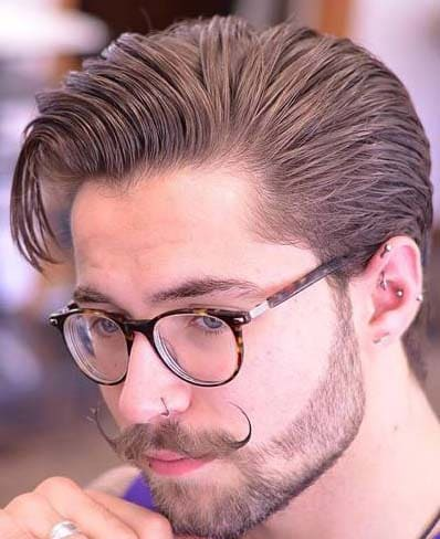 Slick Back Hipster Hairstyles for Men 2018