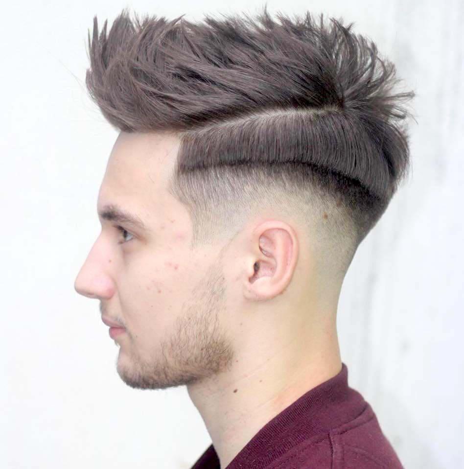 fohawk fade haircuts 2018