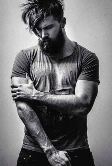 cool messy hairstyles men 2018 - Men\'s Haircut Styles