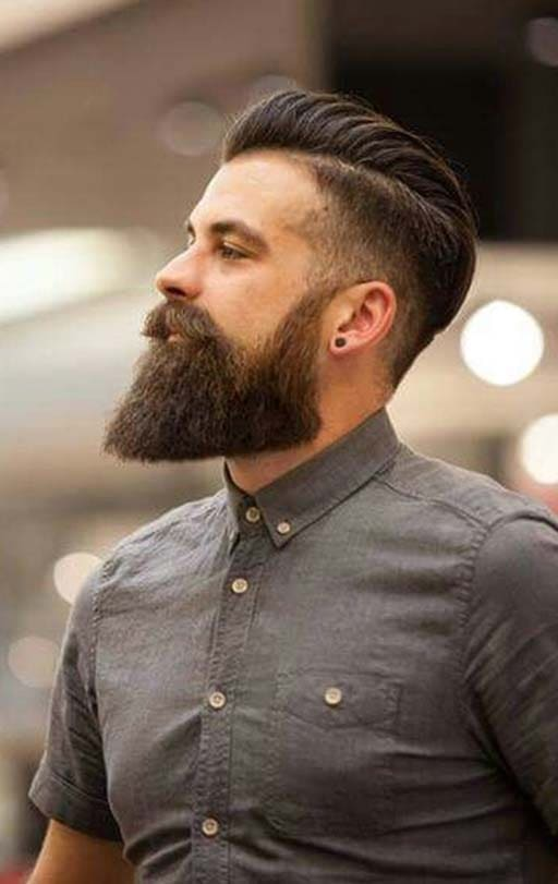 undercut with beard 2018