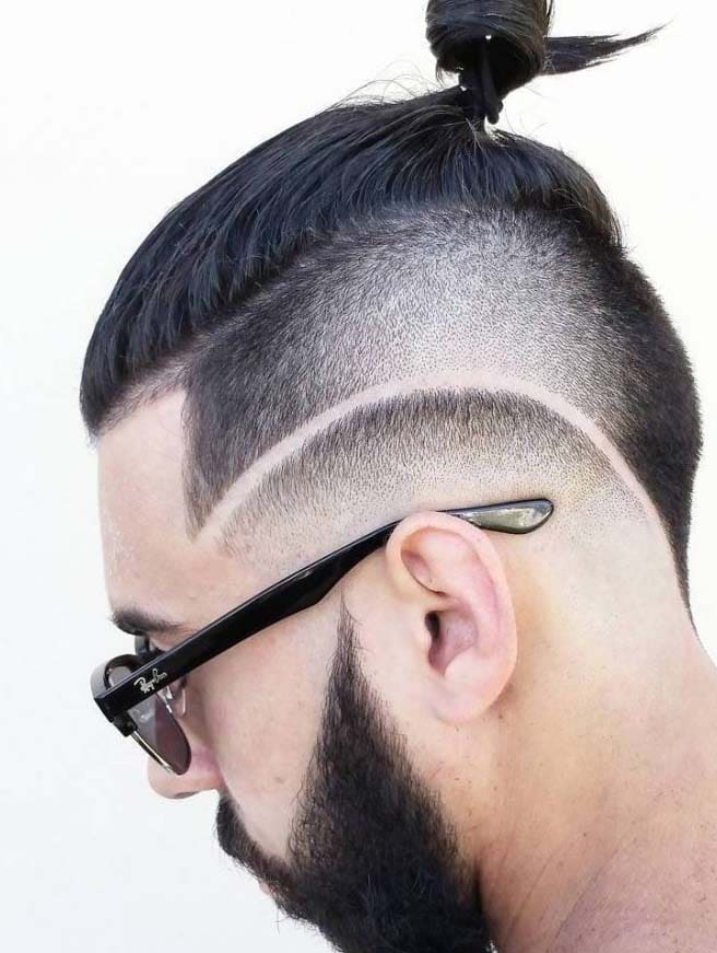 undercut with design hairstyles for men 2018