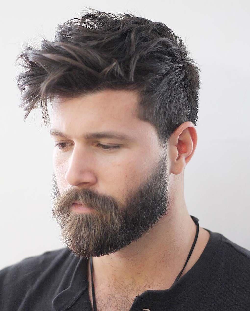 phenomenal messy hairstyles men 2018 - Men\'s Haircut Styles
