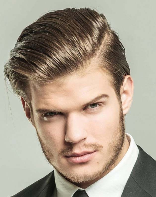 Hairstyles for men with big forehead 2018