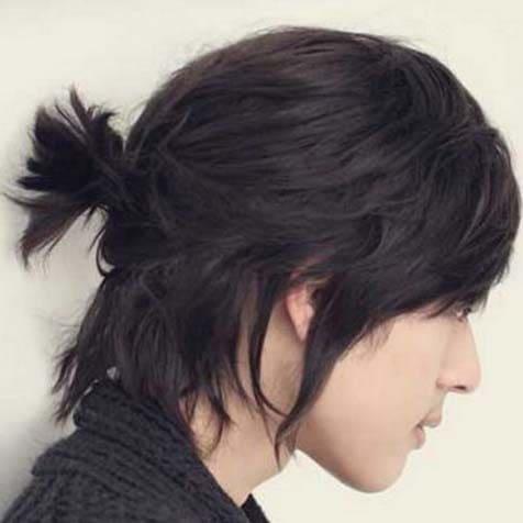 samurai man bun haircuts 2018