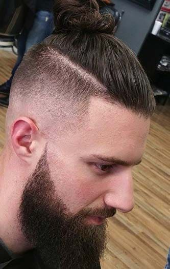 japanese samurai man bun haircuts 2018