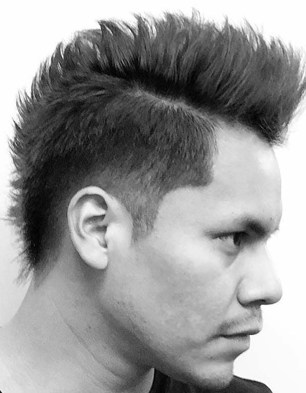 side mohawk haircuts for men 2018