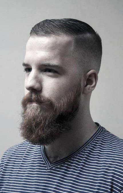 beard styles for men with short hair 2018
