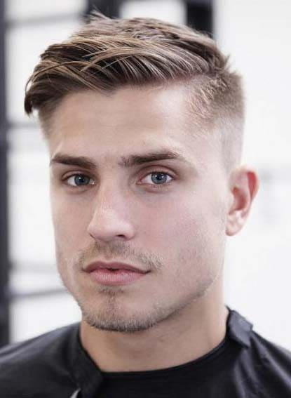 haircuts for men with big foreheads 2018