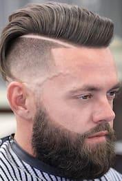 fade haircuts with beard 2018