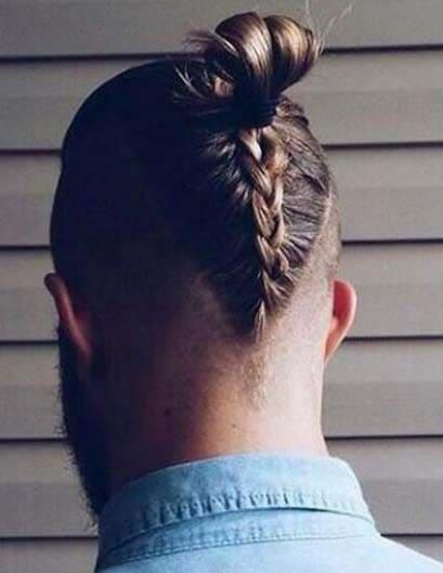 man bun braids 2018