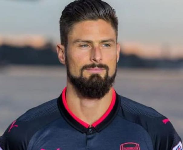olivier giroud hairstyle with beard 2018