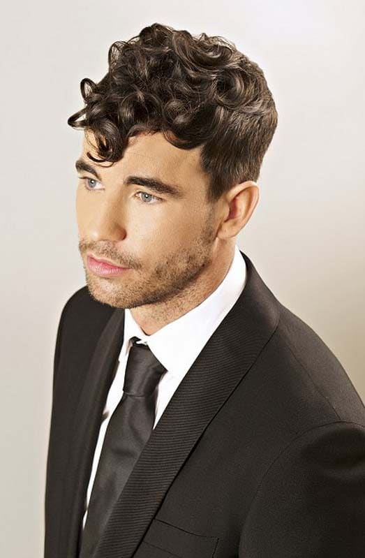 curly quiff hairstyle 2018