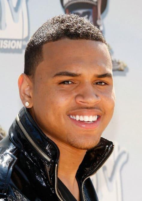 Chris Brown haircut 2018
