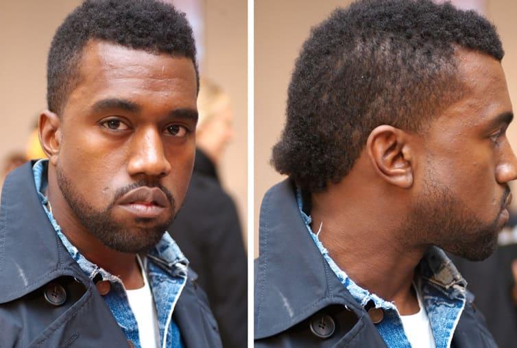 Kanye West haircut 2018