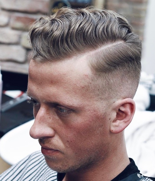 low fade comb over 2019