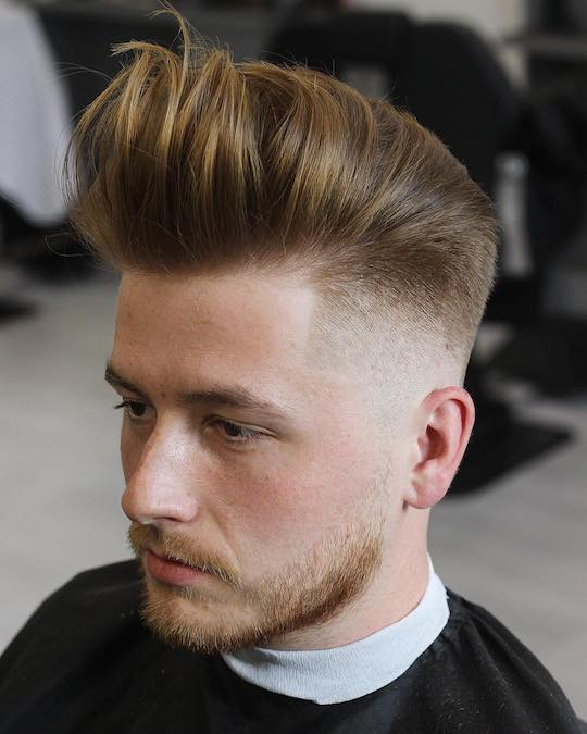 pompadour fade haircut 2019